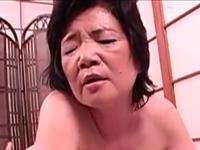 六十路のおばあちゃんのセックスはお淑やかに小さく声を漏らす