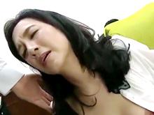 五十路の熟女OLが職場で調教されて立ちバックで喘ぐ