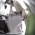 トイレに設置していた隠しカメラが撮影したトイレ掃除のお姉さんのSEX
