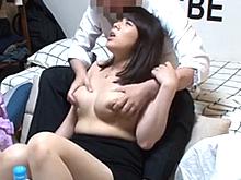 居酒屋で熟女ナンパ師にゲットされた巨乳若妻の連れ込みセックスを盗撮